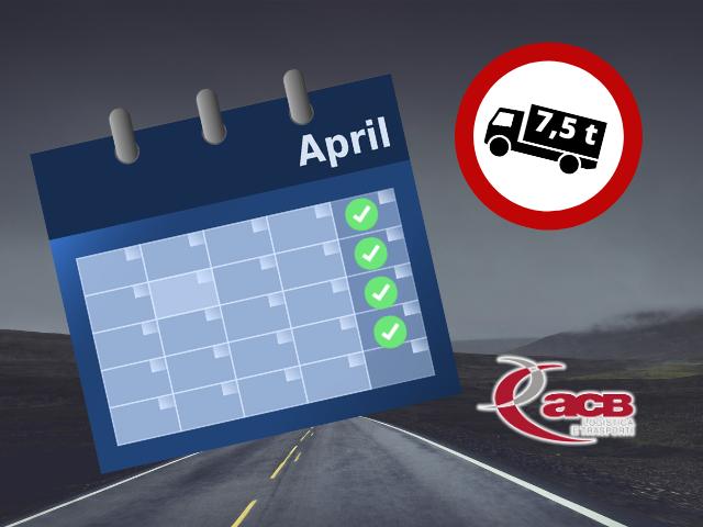 Autotrasporto: Sospensione di divieto di circolazione dei mezzi pesanti per tutto il mese di aprile
